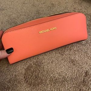 New! Pink Micheal Kors pencil case